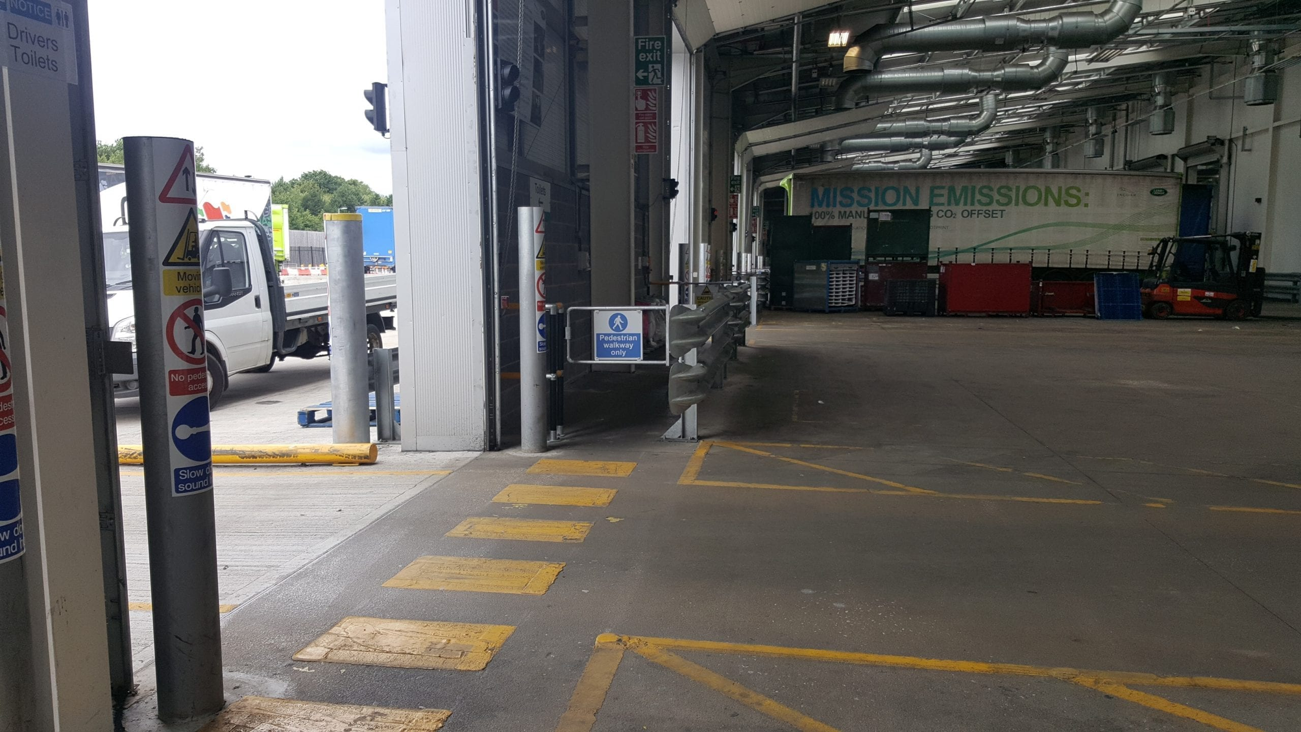New Walkway for Pedestrians At JLR, HGV area