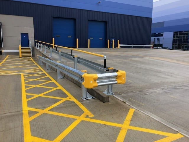 Workplace Safety Experts install Armco safety barriers