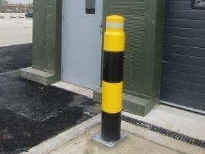 Safety Bollard on work site