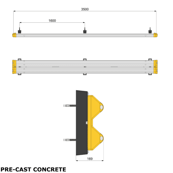 Armco Wall Mounted Safety Barrier