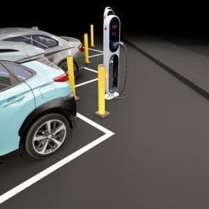 EV Charging Point Protection - A type of Safety Bollards