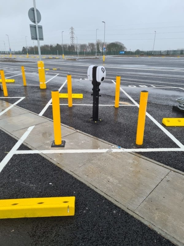 EV Charging Point Protection at Amazon Gateshead Car Park